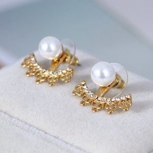 Kate Spade Flower Pearl Stud Earrings